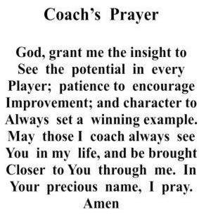 Coaches Prayer